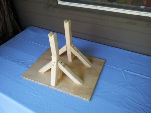 wooden support frame